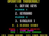 Operation Thunderbolt ZX Spectrum Main Menu