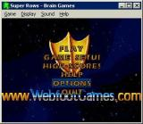 The main menu. Here the game is being played in Windowed mode.<br>This is a version marketed by Greenstreet and the background alternates between their logo and Webfoots