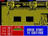 Operation Thunderbolt ZX Spectrum Enemies appears from the ceiling