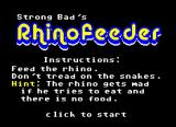 Strong Bad's Rhinofeeder Browser The title screen tells you how to play.