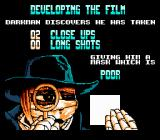 Darkman NES The better the pictures the better the score