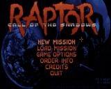 Raptor: Call of the Shadows Windows Title and main menu