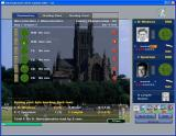International Cricket Captain 2002 Windows Gloucestershire vs Worcestershire, the match progresses and the game gives a summary of each delivery. On the right the batsman's aggression can be adjusted