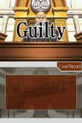 Phoenix Wright: Ace Attorney Nintendo DS Defendant found guilty. Game over