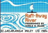 Raft-Away River Apple II Title screen
