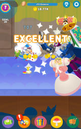 Tap My Katamari Android Moving on to a new stage after completing the time challenge.