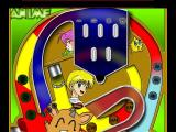 Pinball Master Windows 2D Tables: Anime<br>The player only sees the part of the table containing the ball
