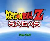 Dragon Ball Z: Sagas GameCube Title screen.