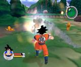 Dragon Ball Z: Sagas GameCube Dodging some nasty blasts.