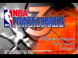 NBA in the Zone '98 PlayStation NBA Power Dunkers 3. One of the title screens.