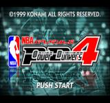 NBA Power Dunkers 4 title screen.