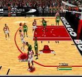 NBA in the Zone 2000 PlayStation Kukoc in action.