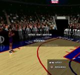 NBA in the Zone 2000 PlayStation Dunk contest mode. Selecting start position.