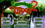 Lemmings 2: The Tribes DOS Menu
