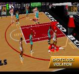 NBA in the Zone 2 PlayStation Shot clock violation.