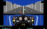 Turbo Esprit Commodore 64 Driving through the city