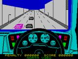 Turbo Esprit ZX Spectrum Driving through the city
