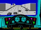 Turbo Esprit ZX Spectrum Be careful at this intersection