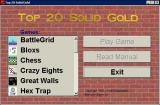Top 20 Solid Gold Windows 3.x The game's menu