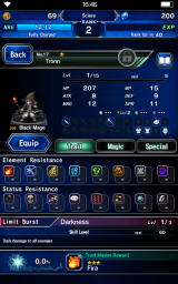 Final Fantasy: Brave Exvius Android Character details