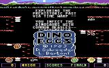 Dino Eggs Commodore 64 Title screen