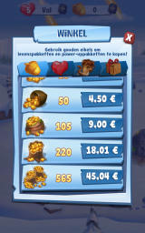 Ice Age: Arctic Blast Android In-app purchases for acorns, the premium currency (Dutch version)