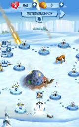 Ice Age: Arctic Blast Android Level progress on the map (Dutch version)