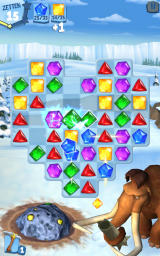 Ice Age: Arctic Blast Android The lightning gem causes an explosion (Dutch version).