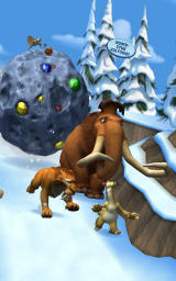Ice Age: Arctic Blast Android The characters are chased by the rolling meteorite Scrat managed to free.