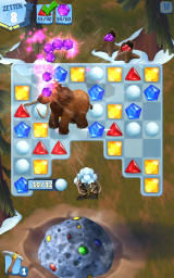 Ice Age: Arctic Blast Android Manny appears to remove all gems of a certain type (Dutch version).