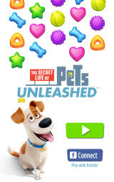 The Secret Life of Pets: Unleashed Android Title screen