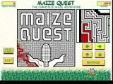 Maize Quest Windows The small window on the right shows a close up view of the player's current position