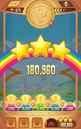 Peggle: Blast Android Score after completing a level, with three stars