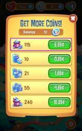 Peggle: Blast Android In-app purchases for the premium coins currency