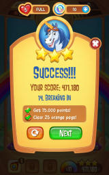 Peggle: Blast Android Level complete