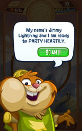 Peggle: Blast Android Jimmy Lightning is introduced.