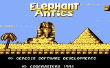 CJ's Elephant Antics Commodore 64 Title screen
