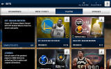 NBA Live: Mobile Android Browsing the players that can be earned or bought.