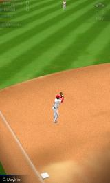 Tap Sports Baseball Android Fielder catching the ball