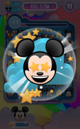 Disney Emoji Blitz Android Activating the Mickey power-up.
