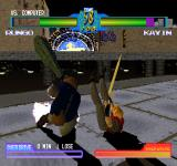 Battle Arena Toshinden 2 plus PlayStation You goin' down mate. And I sure as hell wouldn't like to BE down and looking up to a giant rock bat waiting to smash me...