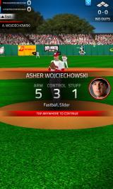 Tap Sports Baseball '16 Android Pitcher stats