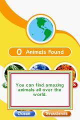 Animal Genius Nintendo DS Introduction after you create your profile