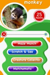 Animal Genius Nintendo DS You need to earn 25 points to earn a monkey for the Rainforest