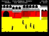 Travel with Trashman ZX Spectrum Moscow. Capture by the guards immediately ends the game.