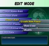Pro Evolution Soccer PlayStation Edit Mode.