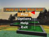 Hole in One Mini Golf Windows The main menu