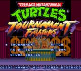 Teenage Mutant Ninja Turtles: Tournament Fighters SNES Title Screen