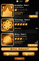 The Hunger Games: Catching Fire - Panem Run Android Use boosts before starting a new run.