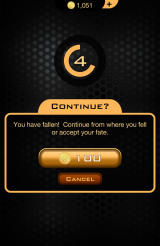 The Hunger Games: Catching Fire - Panem Run Android Spend coins for a revive.